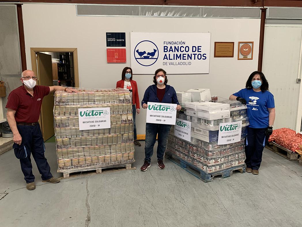 Donación al Banco de Alimentos de Valladolid.
